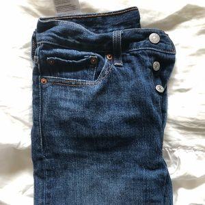 Levi wedgie fit vintage look straight leg jeans